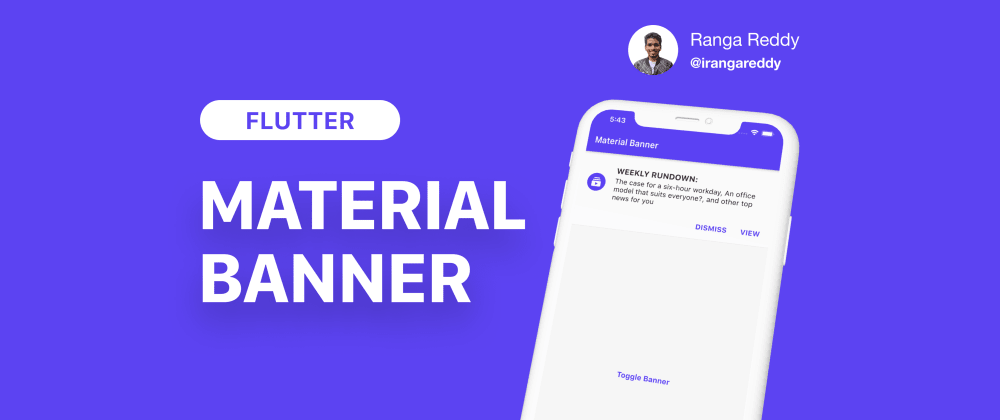 Cover image for Material Banner in Flutter
