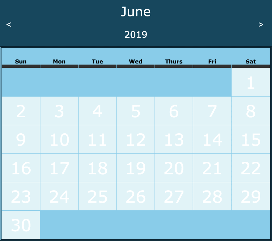 Making a Calendar in Vanilla Javascript - DEV Community
