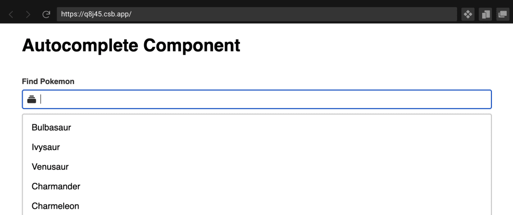 Cover image for React Hooks Autocomplete Component