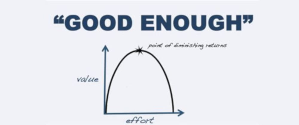 Cover image for You don't have to be perfect to be good enough