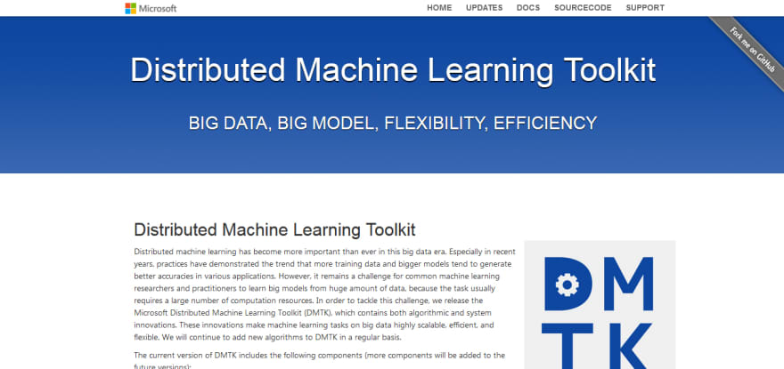 Distributed Machine Learning Toolkit ai and ml tool