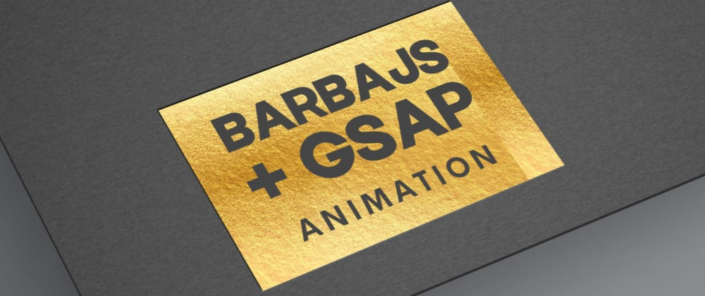 Cover image for Barbajs with GSAP Animation