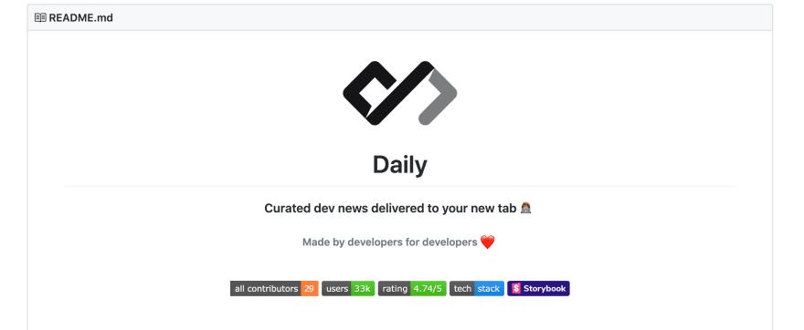 Daily at GitHub