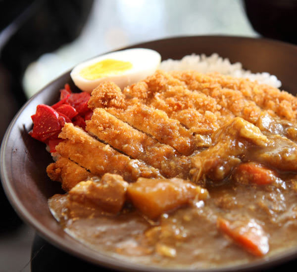 A Japanese curry rice