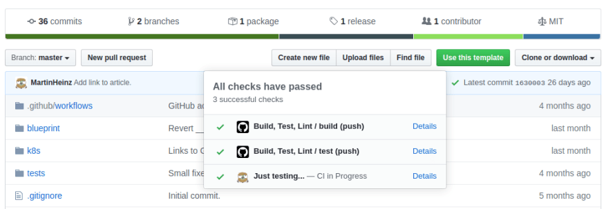 GitHub Status Check