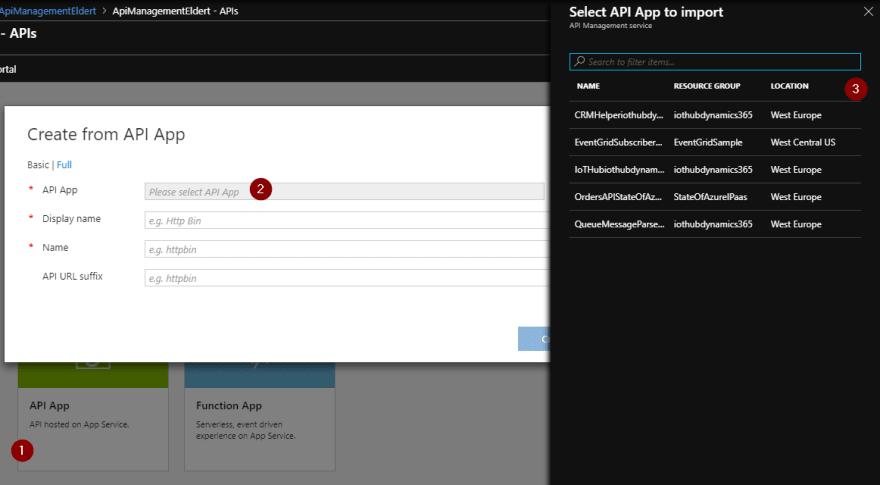 Add API App