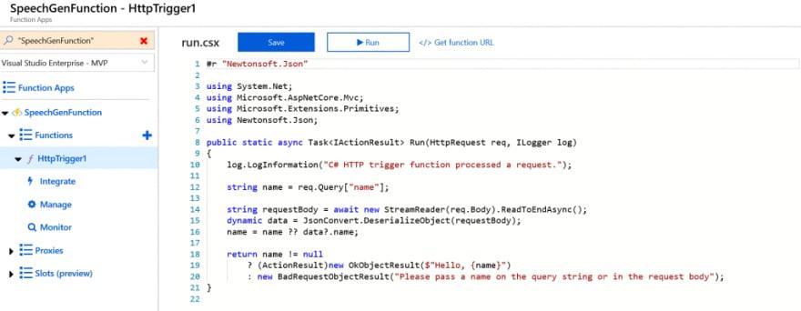 Azure Function Trigger Type