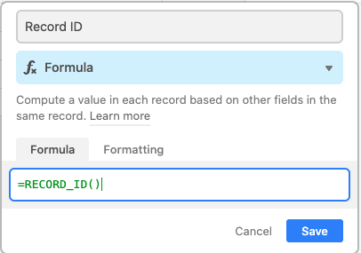 formula field
