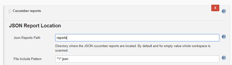 JSON report location