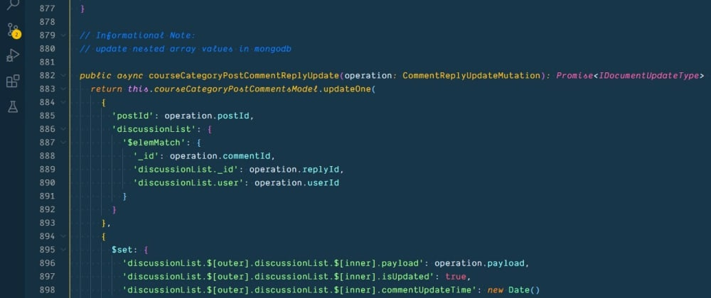 Cover image for Update an object in nested array in MongoDB