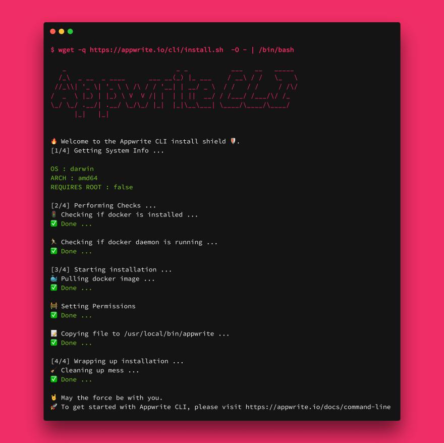 Appwrite Install Script