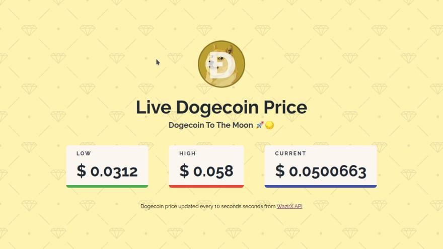 Dogecoin Price Ticker Demo