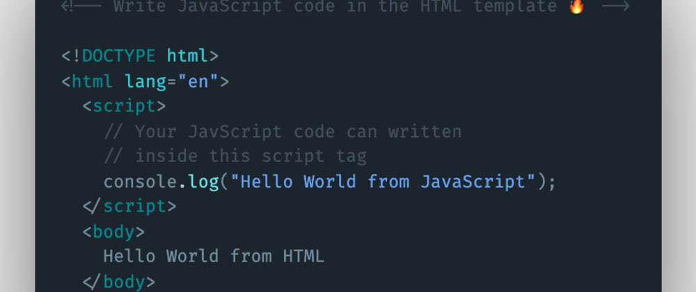 Cover image for How to write JavaScript code inside the HTML itself?