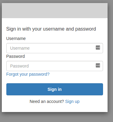 Login in to Cognito