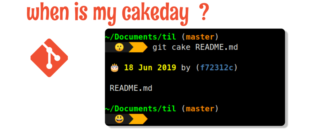 Cover image for git cake: when is my README's birthday?