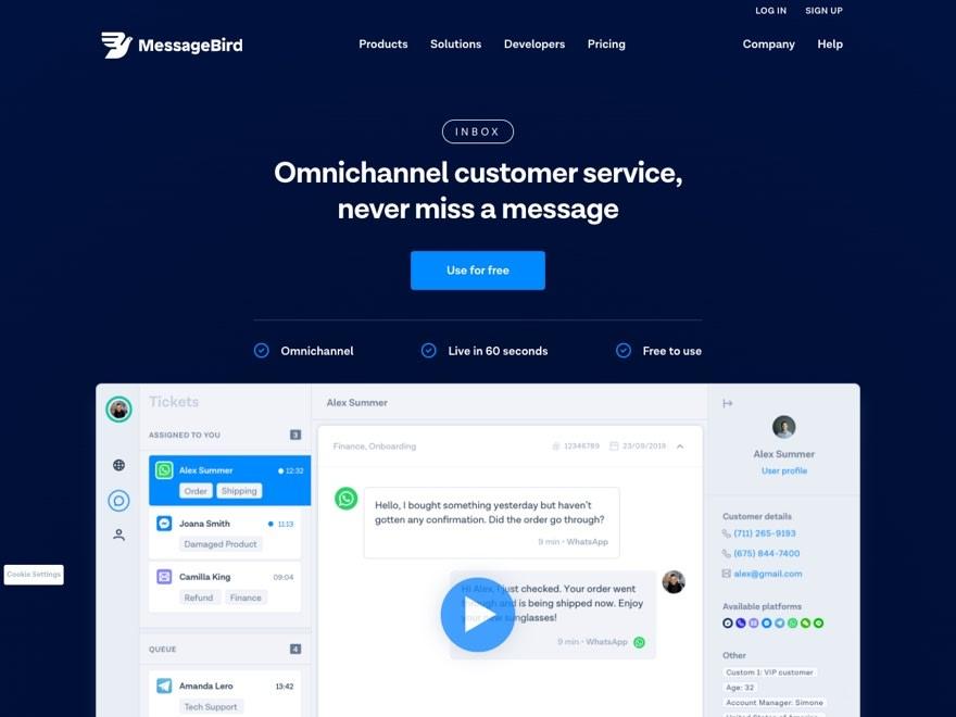 Messagebird Inbox
