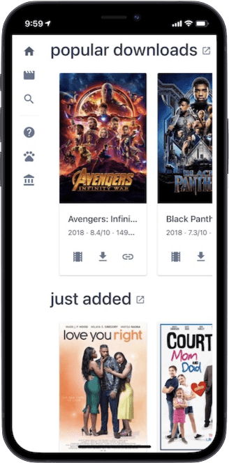 Cinepotato added to Home Screen on iPhone X