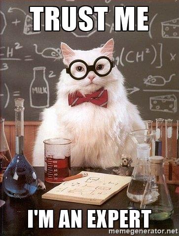 Science cat meme - Trust me I'm an expert