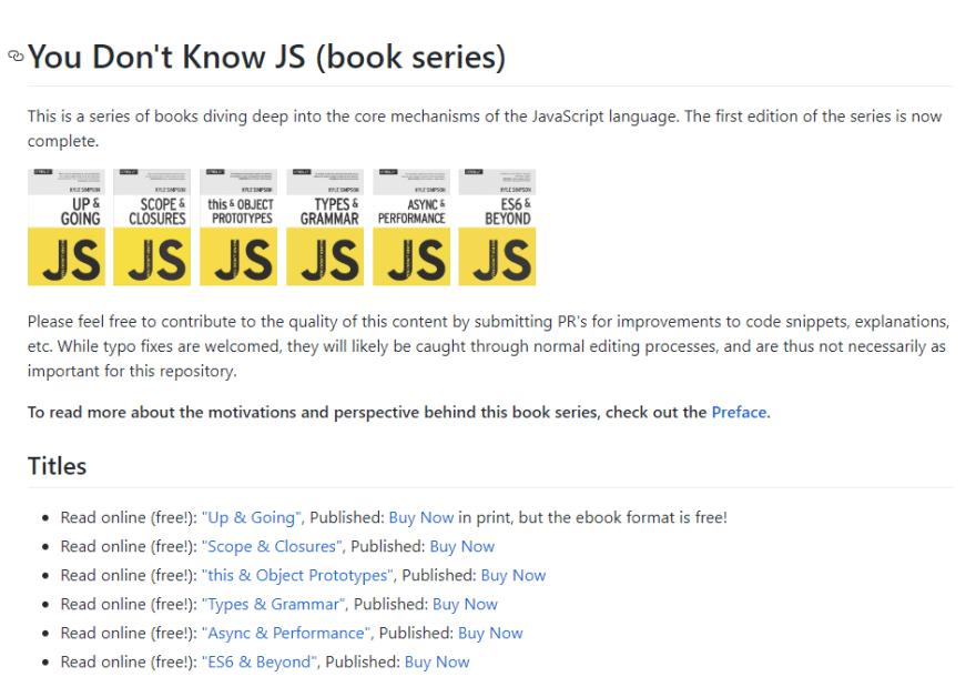 JavaScript Repositories I Follow