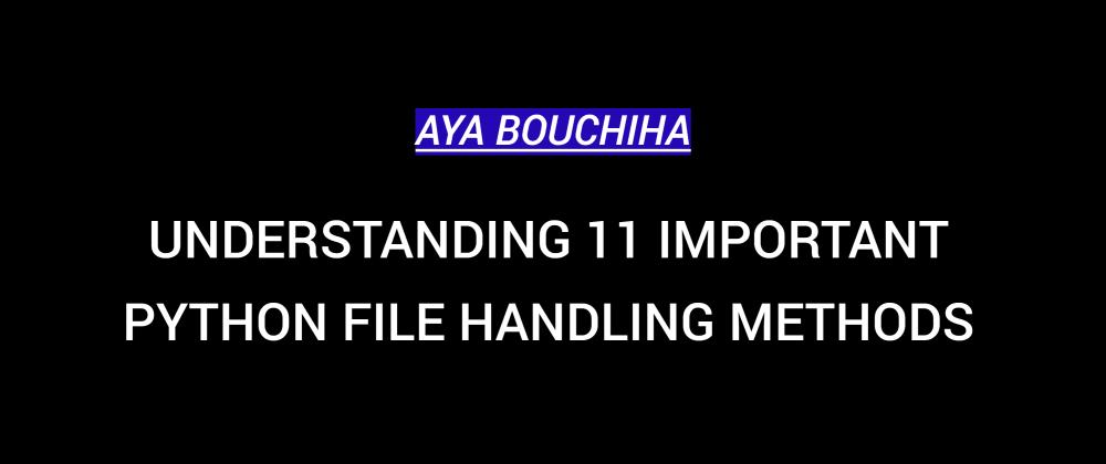 Cover image for Understanding 11 Important Python File Handling Methods