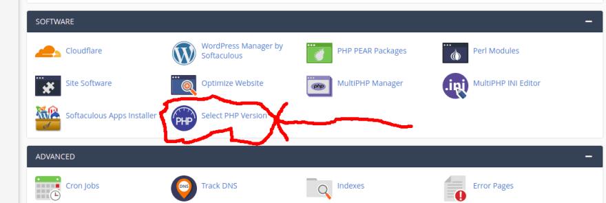 update php version