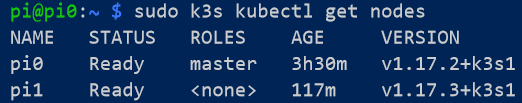 Powershell interface showing kubernetes nodes
