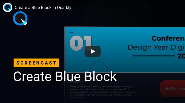 Create a Block in Quarkly