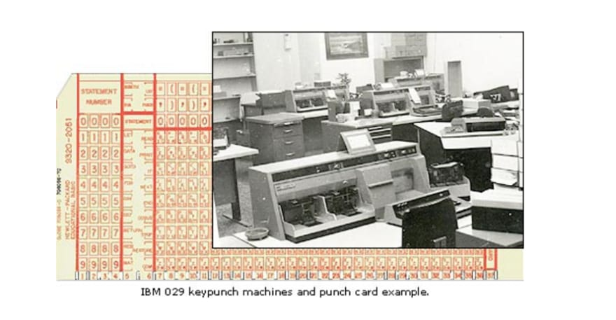 punch cards and reader