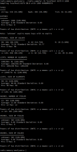 Output from Redis Sampler