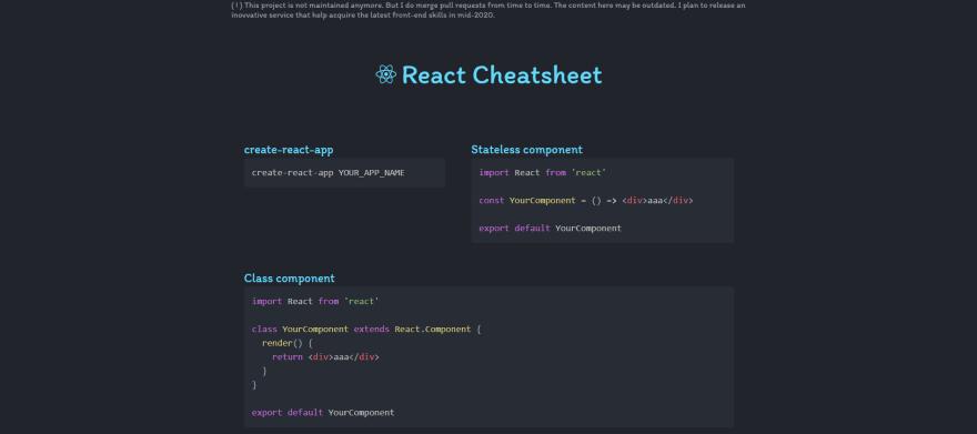 Developer cheatsheets