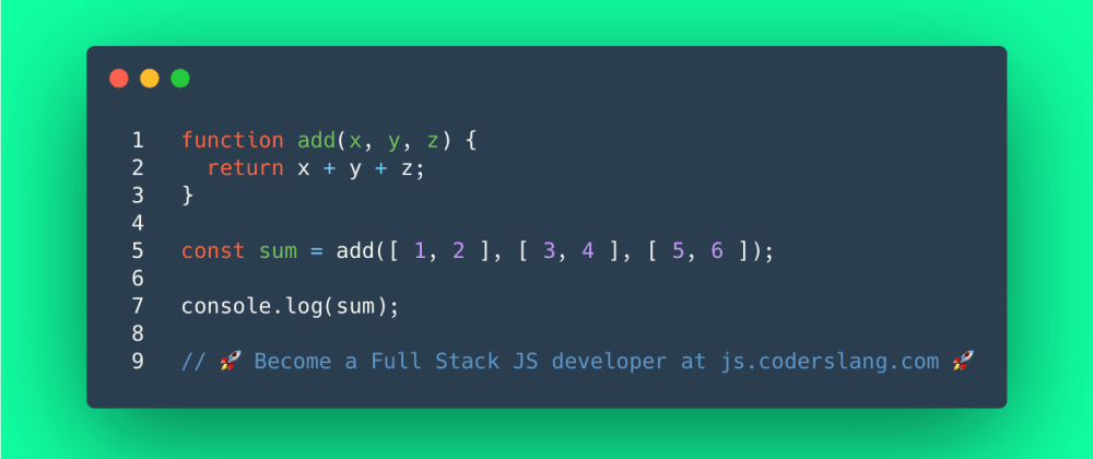 Cover image for JavaScript Interview Question #38: Can you add multiple arrays in JavaScript?