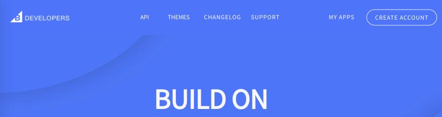 screenshot of navigation bar and hero image