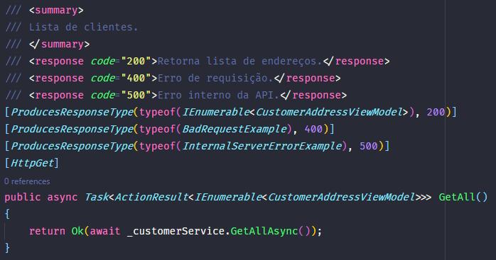 Tags XML e Annotations para uma rota da API