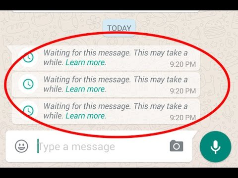 whatsapp waiting message