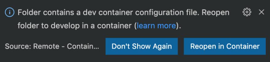 VSCode docker suggestion
