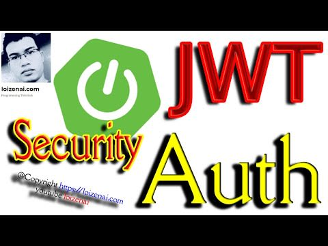 Video guide SpringBoot JWT authentication