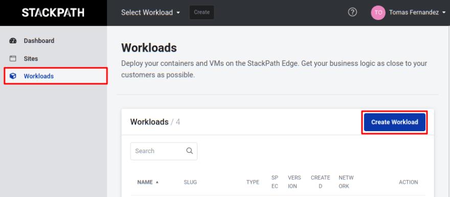Create workload
