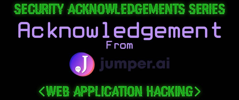 Cover image for Acknowledgement From Jumper.ai