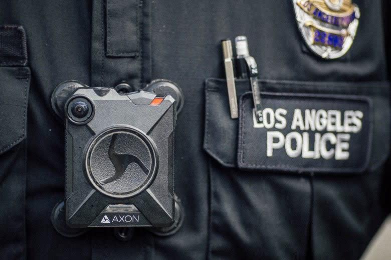 An AXON police body camera.