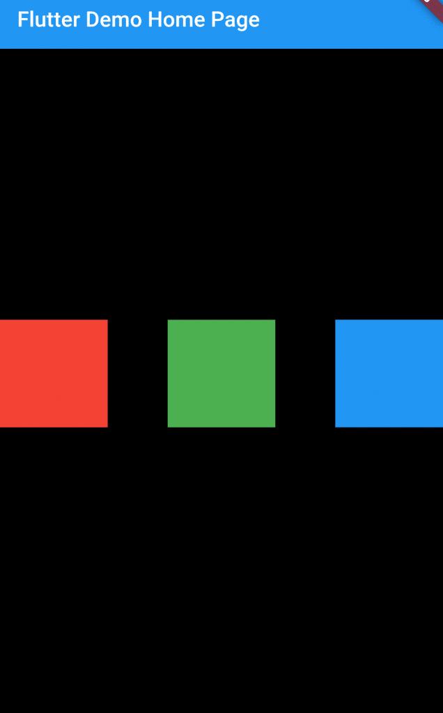 MainAxisAlignment to align children inside a row