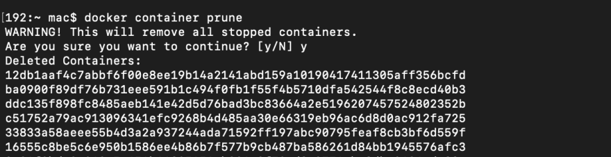 docker containers list
