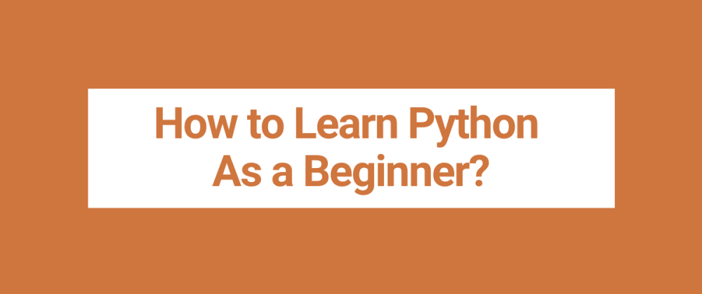 Cover image for How to Learn Python as a Beginner?