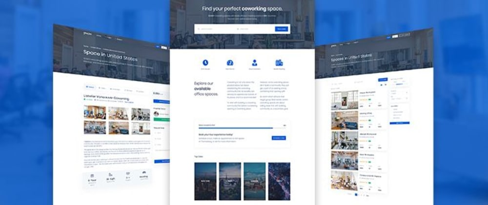 Cover image for Spaces, a coworking spaces Bootstrap 4 template