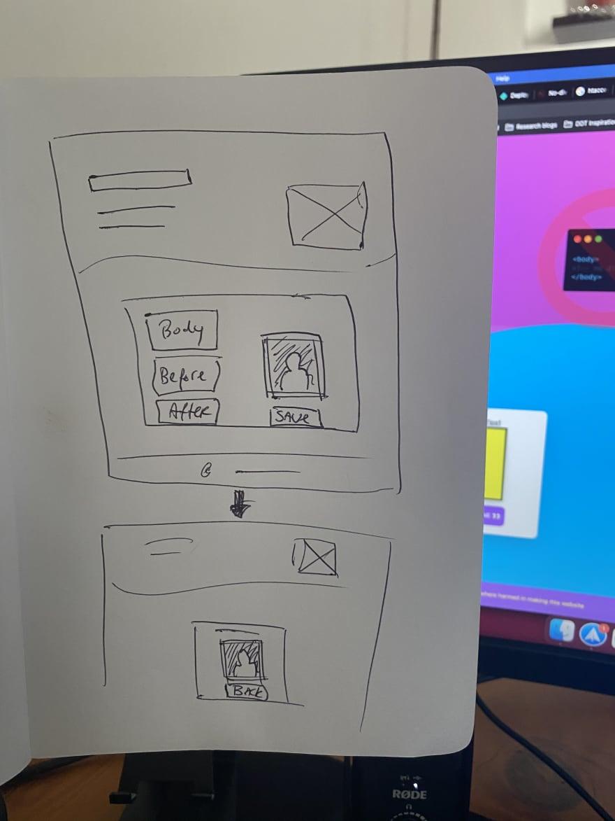 Sketch before