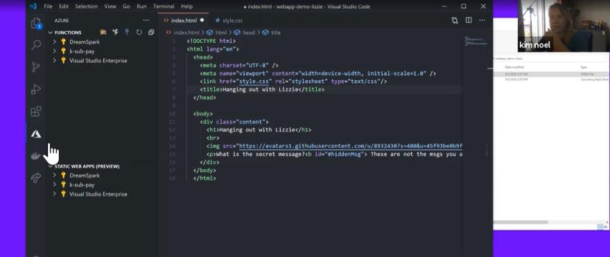 Screenshot of VS Code editor