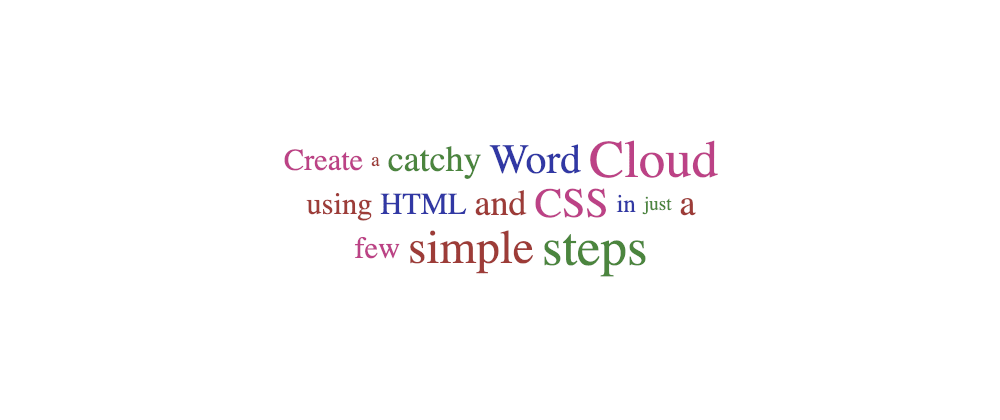 Cover image for Create a tag cloud with HTML and CSS
