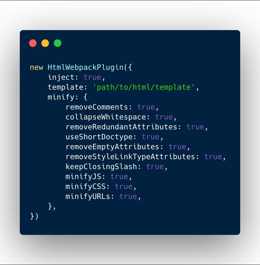 HTML webpack plugin basic configuration