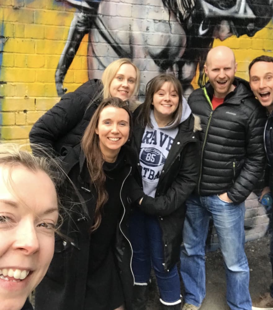 bootcampers on a walk
