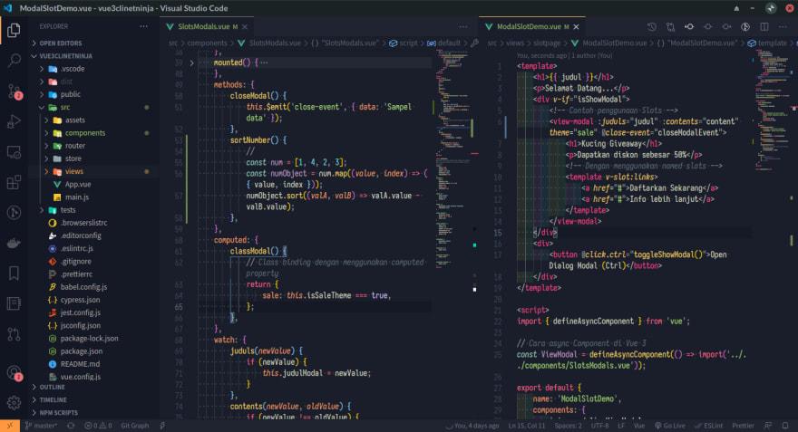 my vs code setup
