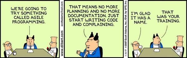 Dilbert: Agile Programming